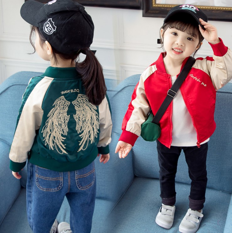 Intimate baby spring and autumn new boys and girls Angel jacket baby coat Korean fashion