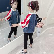 女童秋装外套2019新款韩版10洋气女孩牛仔夹克11中大童12衣服13岁