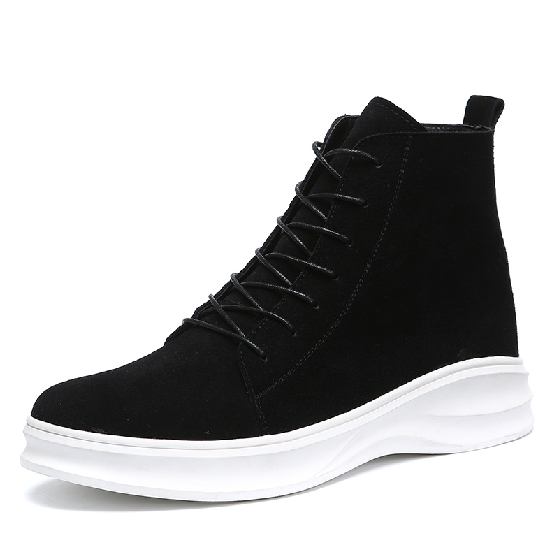 Martin boots men's spring 2020 breathable Leather Boots Men's British high top men's shoes men's thick soled casual shoes men's shoes