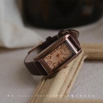 伴朵手表女士简约气质复古文艺防水考试ins风经典长方形国产腕表