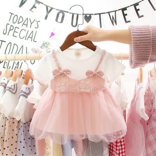 3岁半宝宝夏装 连衣裙女童裙子婴儿公主衣服洋气可爱6个月9