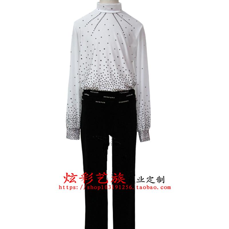 炫彩艺族定做花样滑冰服装溜冰服 体操服 滑冰服比赛服表演服男款