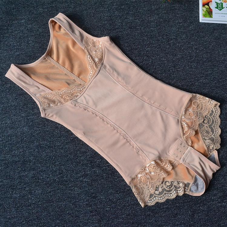 新品加长大码三角连体塑身衣保暖内衣女塑身内衣连体收腹哺乳内衣