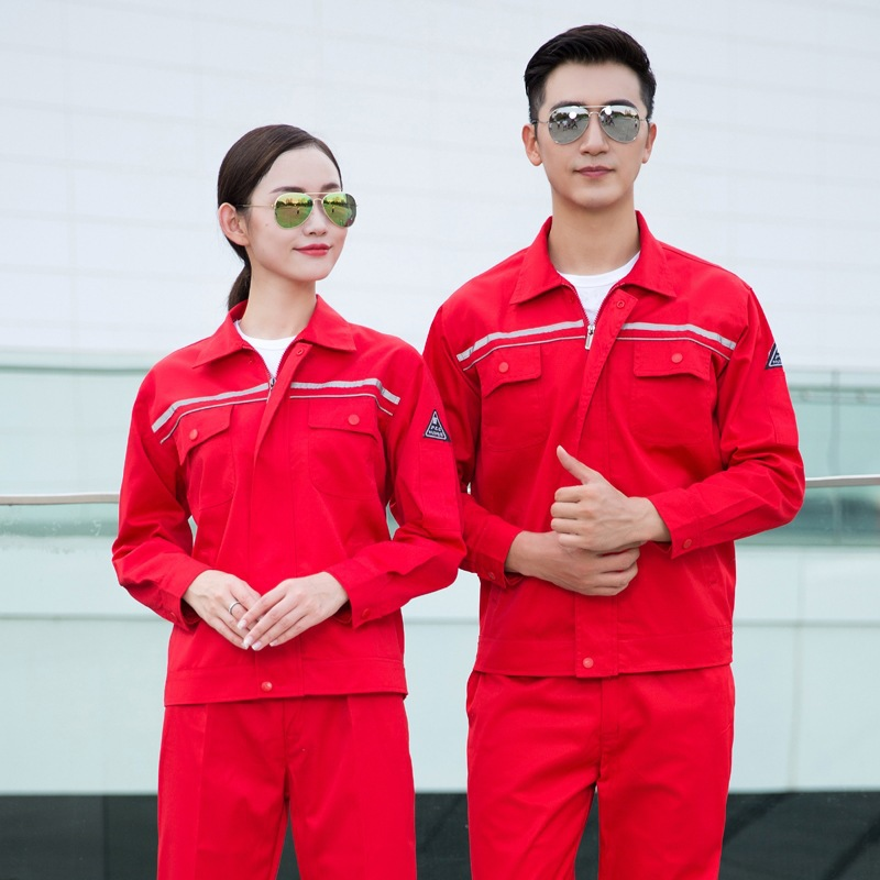 Anti static work clothes autumn and winter long sleeve automobile maintenance uniforms gas station tooling custom printed road and bridge detection equipment