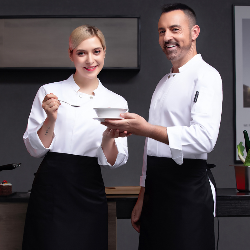 Italian catering chefs dress long sleeve Bakers work dress Bakers uniform pastry chefs dress cake decoration