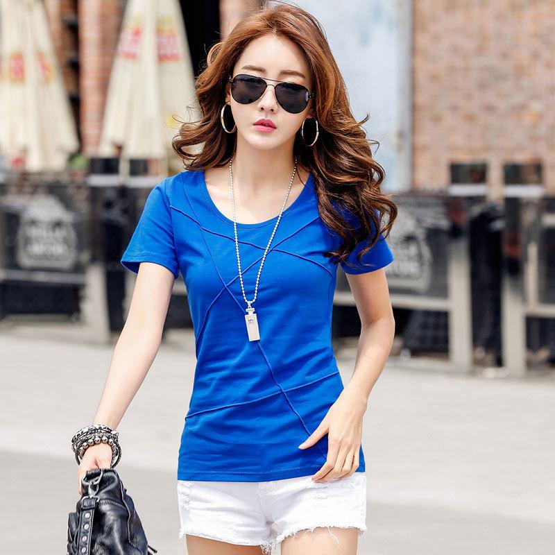 2020夏季衣服精品女装上衣韩版修身显瘦棉质短袖T恤女士