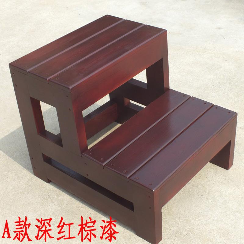 家用梯实木三步梯凳两用梯凳子台阶脚踏板凳登高梯二步梯踏步楼梯
