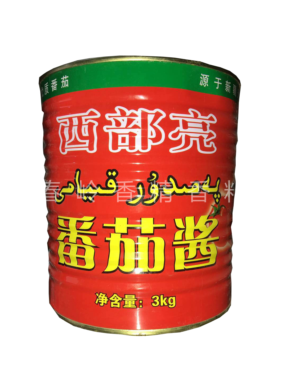 西部亮番茄酱6斤新疆西红柿罐头无添加番茄酱 餐厅酒店火锅店用酱