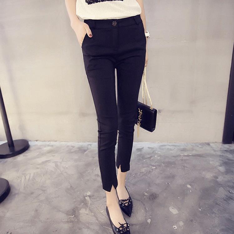 Autumn and winter Plush New Korean slim pants womens Casual Pants Capris pencil Leggings versatile summer