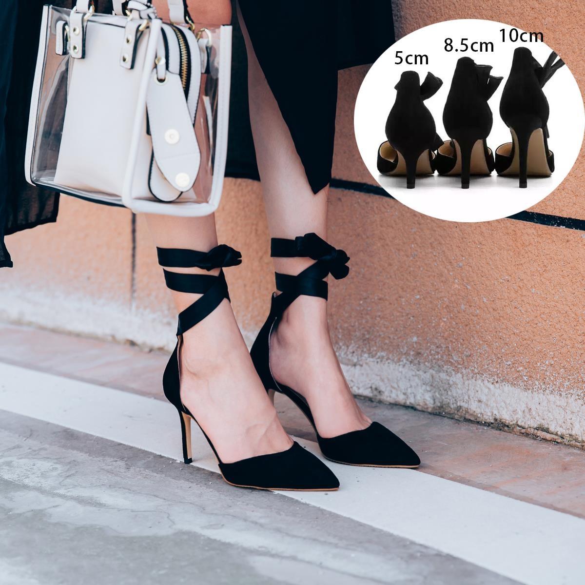 李溪芮同款法式少女高跟鞋细跟2019春新款网红绑带复古礼服款单鞋