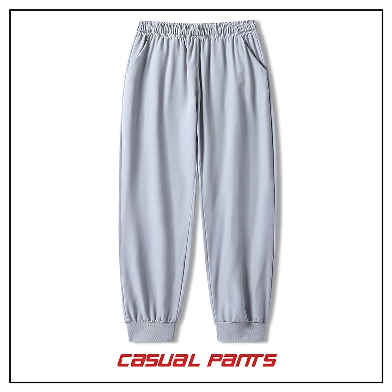 Mens pants autumn and winter black grey cut loose pants in style versatile jogging casual sports pants p21