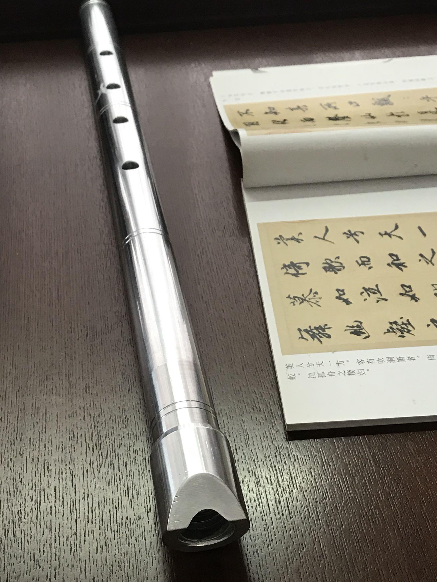 [日式五孔尺八 ] металлический [尺八 ] алюминий [合金尺八 8孔洞箫] металлический [箫唐口箫 尺八D管]