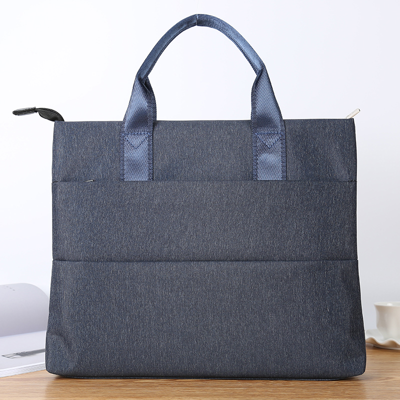 Ante document bag A4 portable briefcase mens and womens multi-layer canvas zipper business office meeting bag can be customized