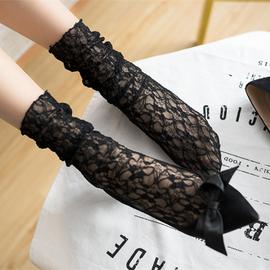 包邮韩国进口蕾丝袜花边复古镂空花堆堆袜套网袜短袜潮袜子女短袜