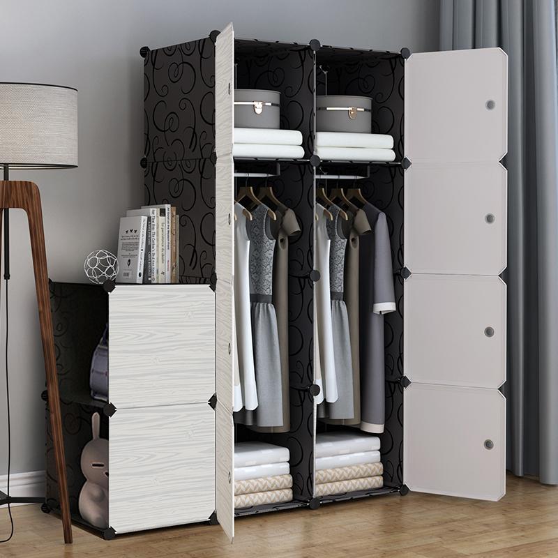 简易衣柜简约现代经济型宿舍组装塑料家用布衣橱挂衣柜租房用的