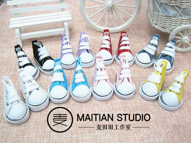 (group purchase price) 15-20cm doll shoes Velcro + Lace canvas shoes exo doll bjd6 points