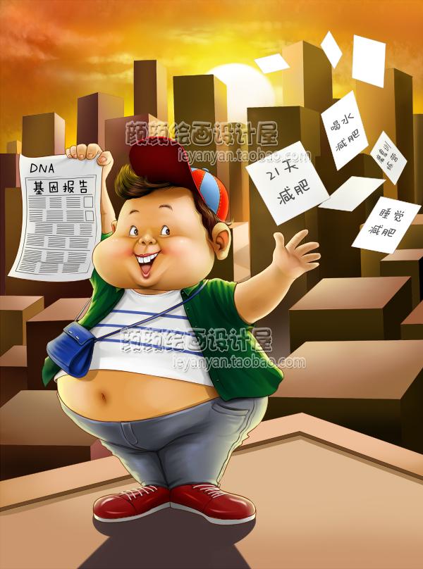 原创设计Q版漫画插画手绘电子版cg图书杂志配图故事情节插图