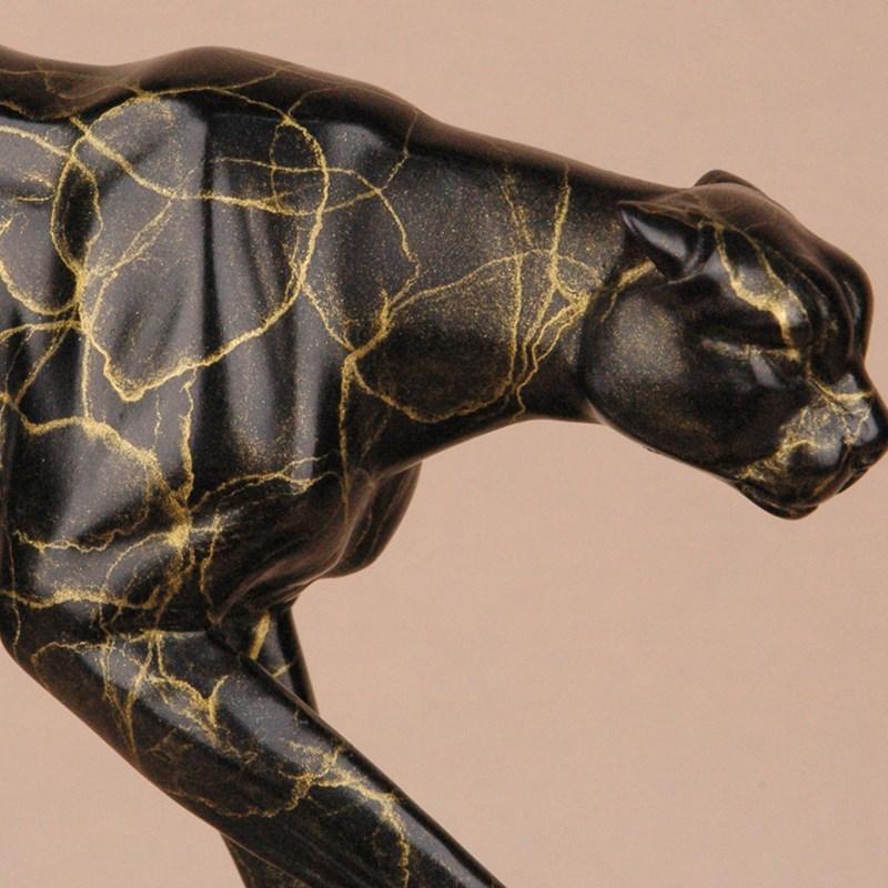 纯铜豹 铜创意动物奔豹摆件家装 铜制品 软装商务馈赠 乔迁贺礼品