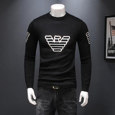 加厚男士羊毛衫2018冬装新款毛衣7808 P115 大码到5XL可穿230斤