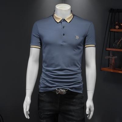 2021夏季新款男士短袖POLO衫简约百搭体恤衫2202 P73