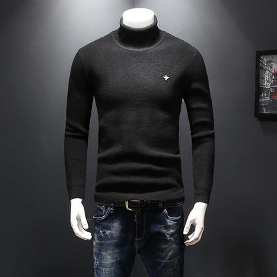 加厚羊毛衫 高领舒适保暖针织毛衣D232-815-P120 黑