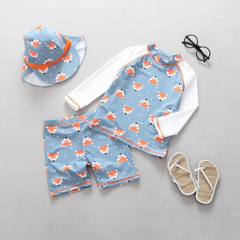 韩国韩范儿童男童长袖保暖游泳衣(非品牌)