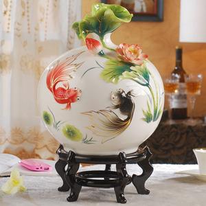 金玉满堂景德镇客厅插花大陶瓷花瓶
