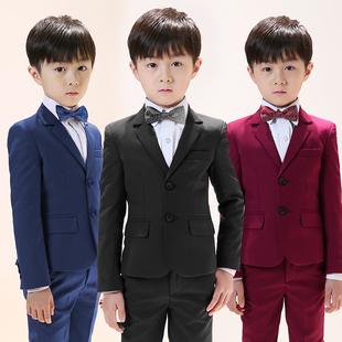 儿童小西装套装男童西服三件套花童礼服小孩主持人钢琴演出服春秋