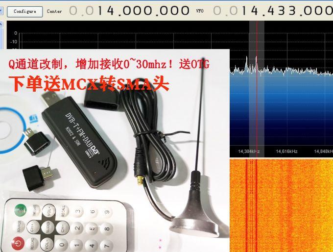 RTL2832u+r820t2 Q проход (ряд) изменение система увеличение 00k-30Mhz короткий волна реальный ток 100k-1766m
