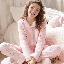 Yourban Monthly Clothes Fall and Winter Nov. Inner and Outer Pure Cotton Maternal Postpartum Lactation Nightwear Home Clothes