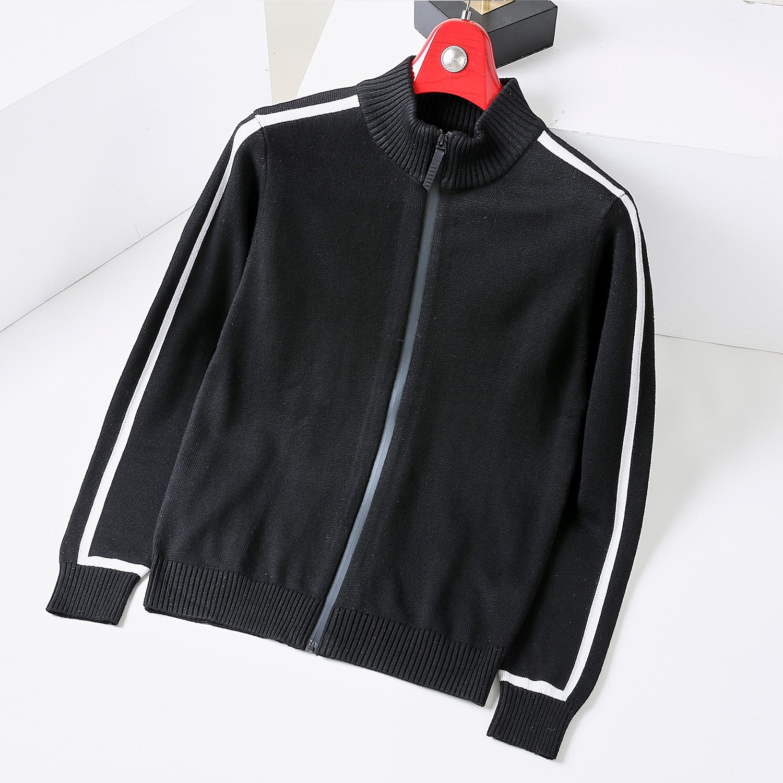 Knitted jacket mens autumn new Korean fashion baseball collar cardigan cashmere wool blended jacket mens