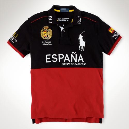 2017 новый гоночный люди отворот короткий рукав движение Polo рубашка t футболки в испании мужской куртка случайный сочувствовать