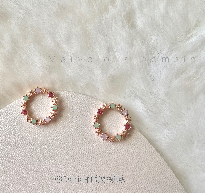 Daria.丨用彩色装点耳朵呀~ 独特个性少女甜甜圈s925耳环