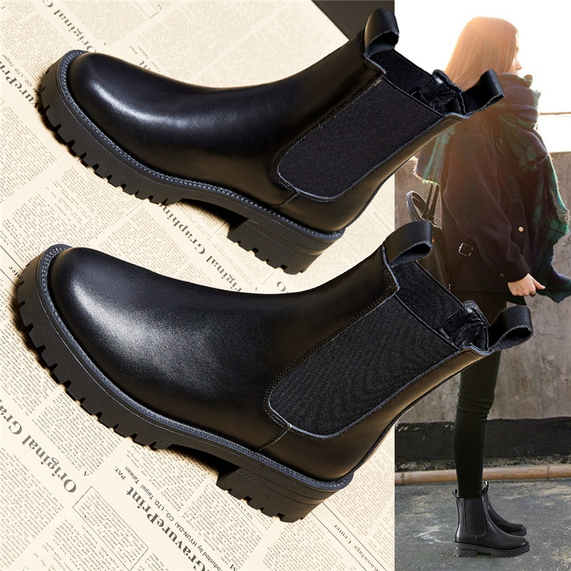 Martin boots leather Chelsea womens fashion 2020 new autumn and winter boots