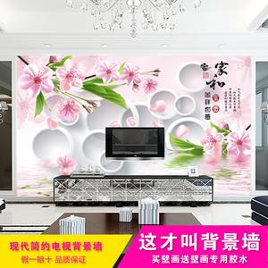 一卷绣大型壁画3d电视背景墙壁纸