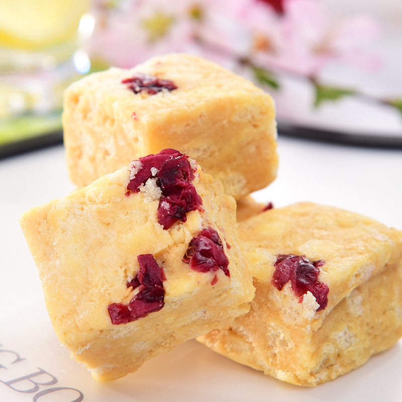 手工沙琪玛 松软糕点点心蔓越莓味 原味200g维伊零食 俄罗斯进口