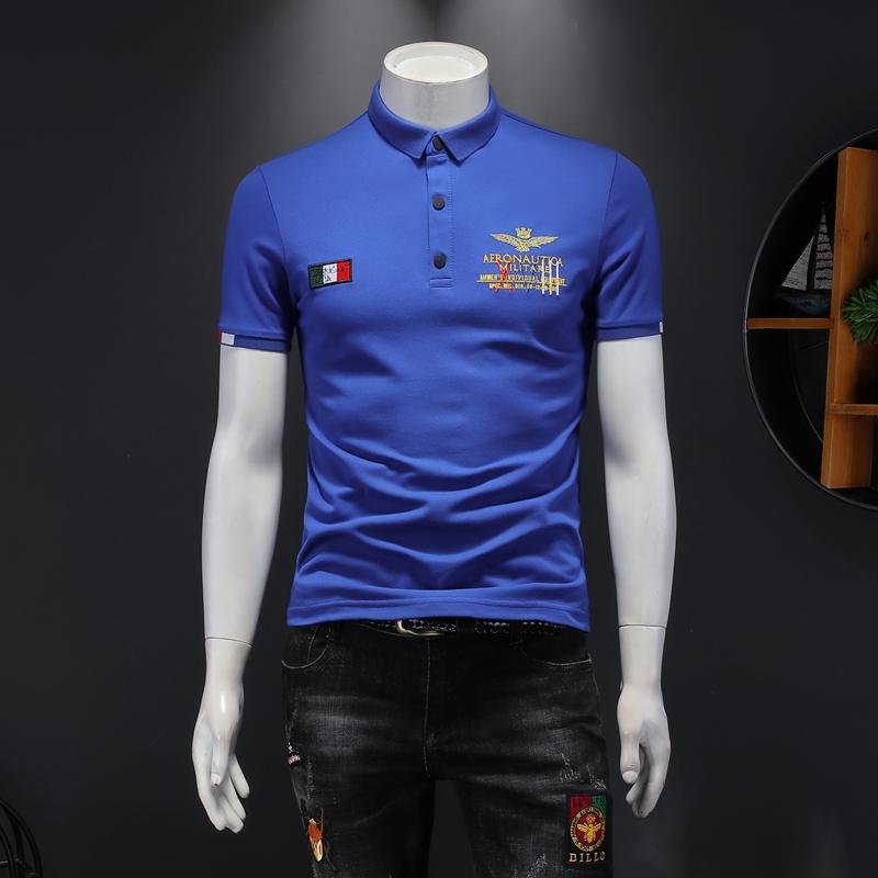 2021年新款短袖POLO衫 钱塘3019 7716 P65 假模蓝色