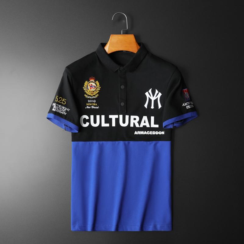 2020年新款短袖POLO衫 钱塘3019 7725 P65 平铺蓝色