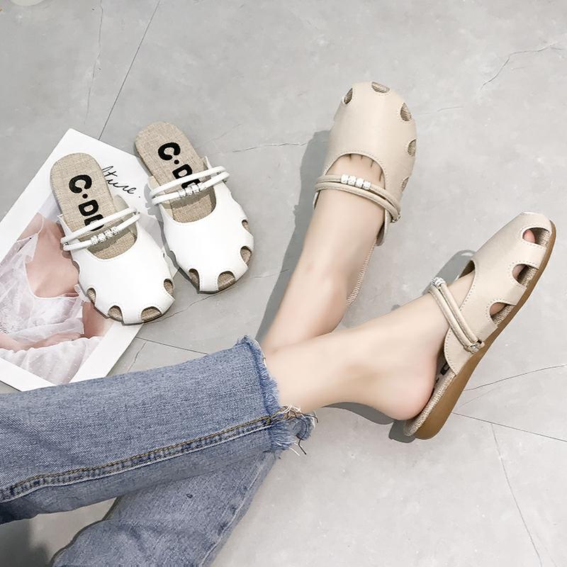 (用27.72元券)女夏新款百搭平底无后跟外穿凉拖鞋