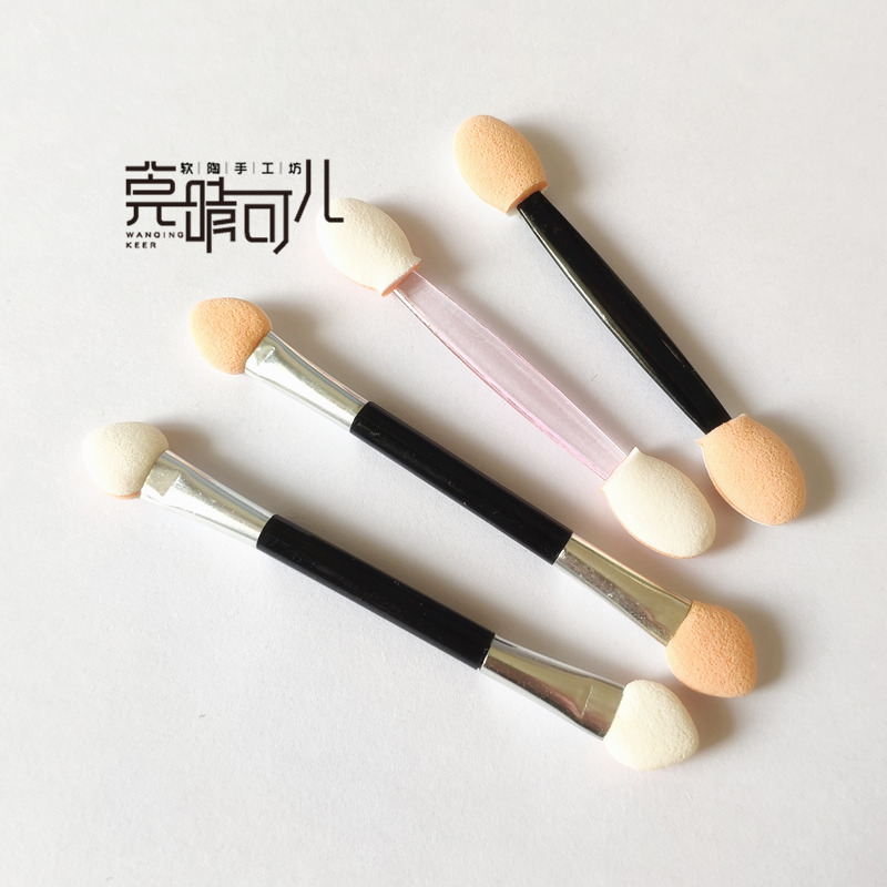 10 sponge eye shadow sticks, color pen, soft clay clay, OB11 doll doll make BJD model makeup tool.