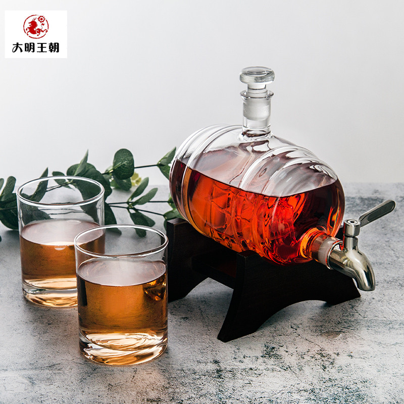 Sailboat whisky glass decanter Set Handmade high-end creative cross border pop model household wine bucket with faucet