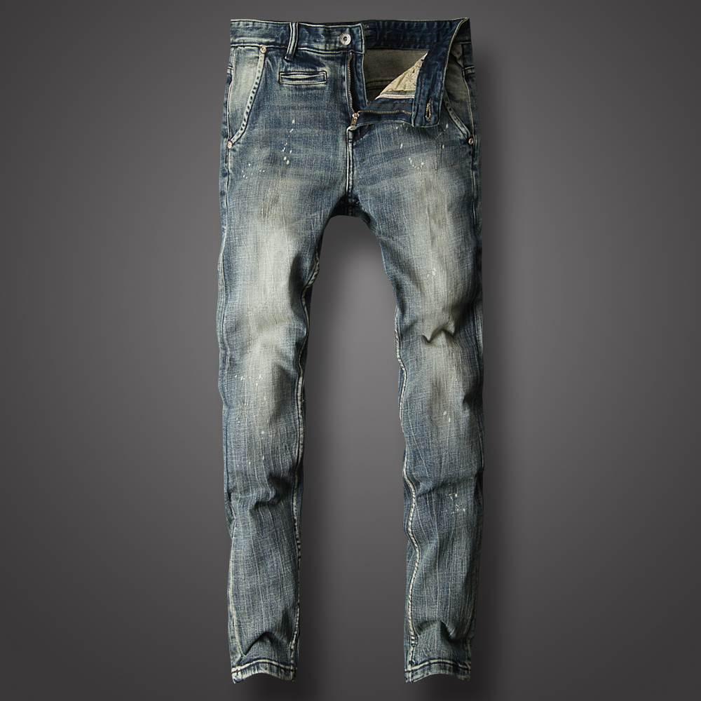 2021新款男士浅色牛仔裤弹力中低腰高端休闲百搭直筒修身小脚裤