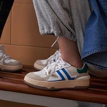 聚77110AM1春新款牛皮减龄厚底休闲板鞋2021百丽百搭小白鞋女