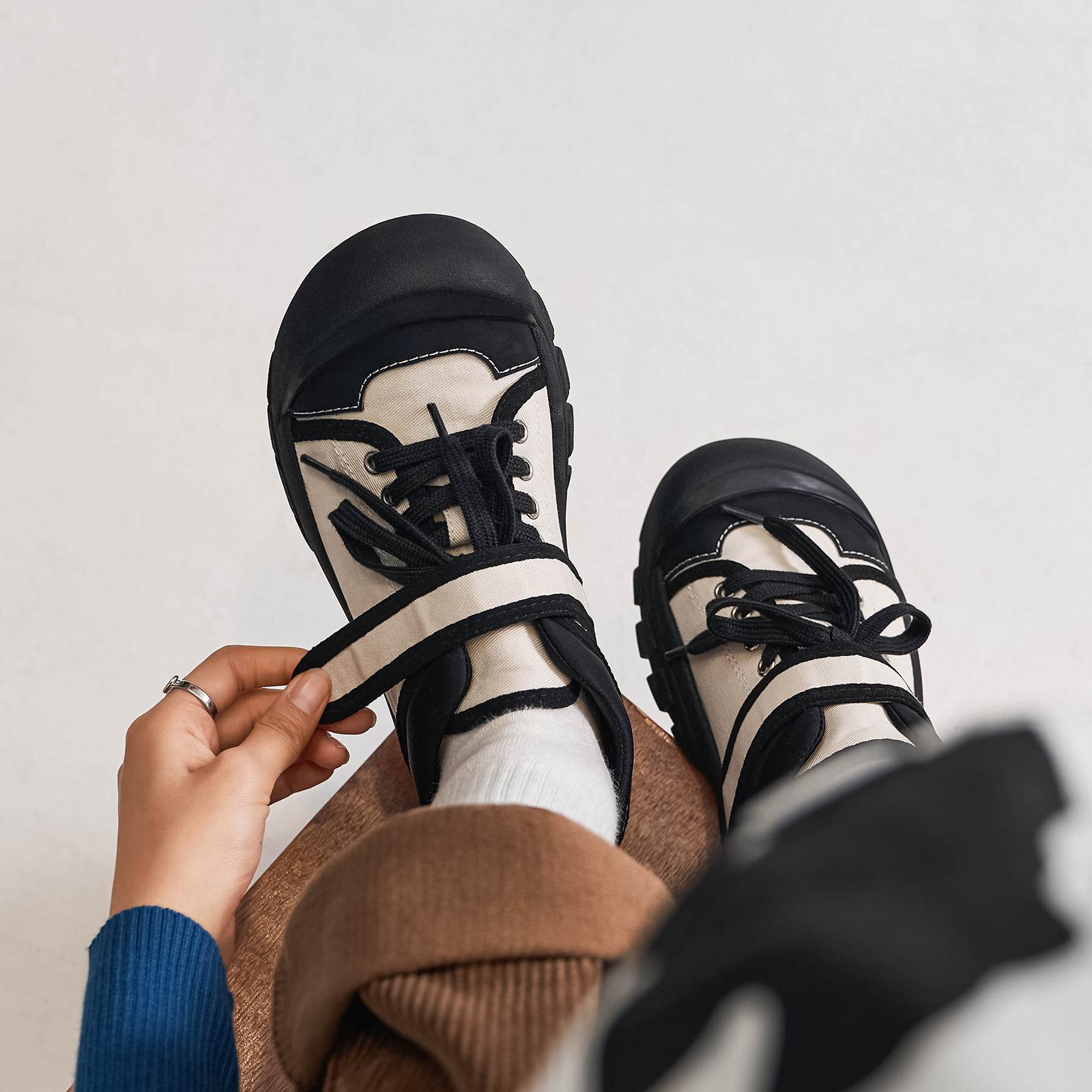玛速主义 2021新款丑萌憨憨鞋魔术贴运动鞋女夏休闲鞋单鞋大头鞋