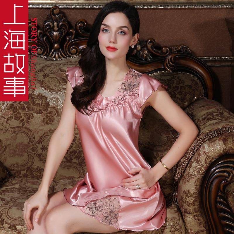 上海故事睡衣女春秋睡裙子吊带性感情趣骚公主风夏季薄款冰丝睡裙