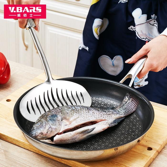 煎鏟平鏟漏鏟不鏽鋼平底鍋鏟炒菜鏟子煎蛋煎餅煎魚廚房用具防燙