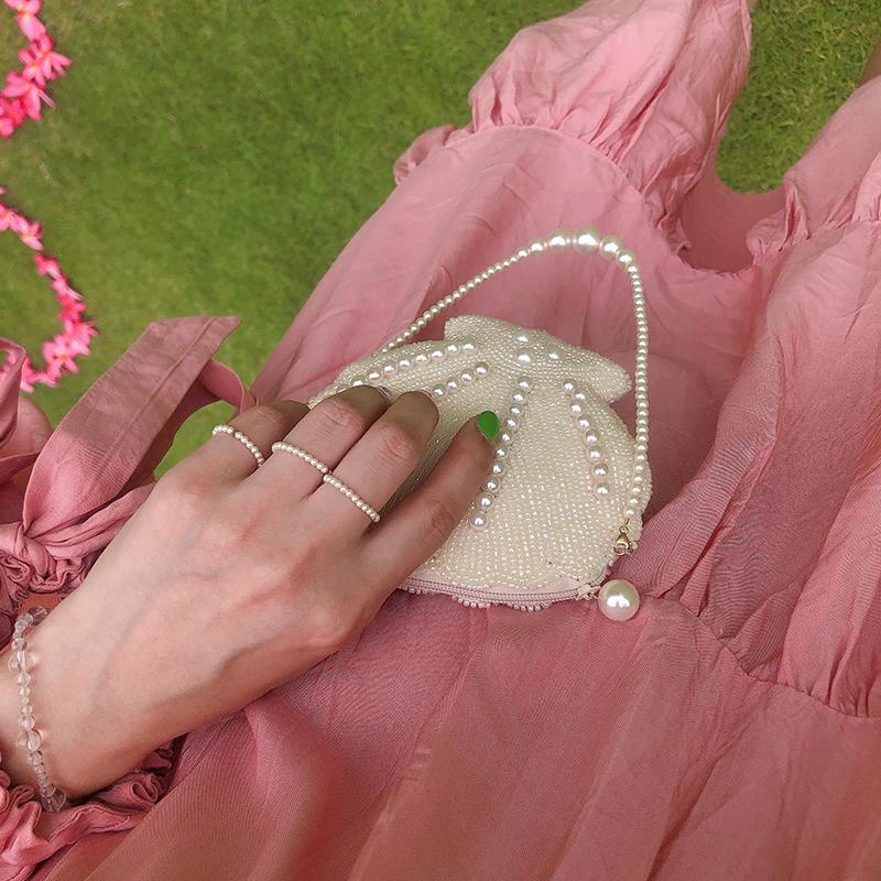 12-01新券TWOR/独家设计罕见小珍珠美国进口14k注金施家珍珠戒指女叠戴时尚