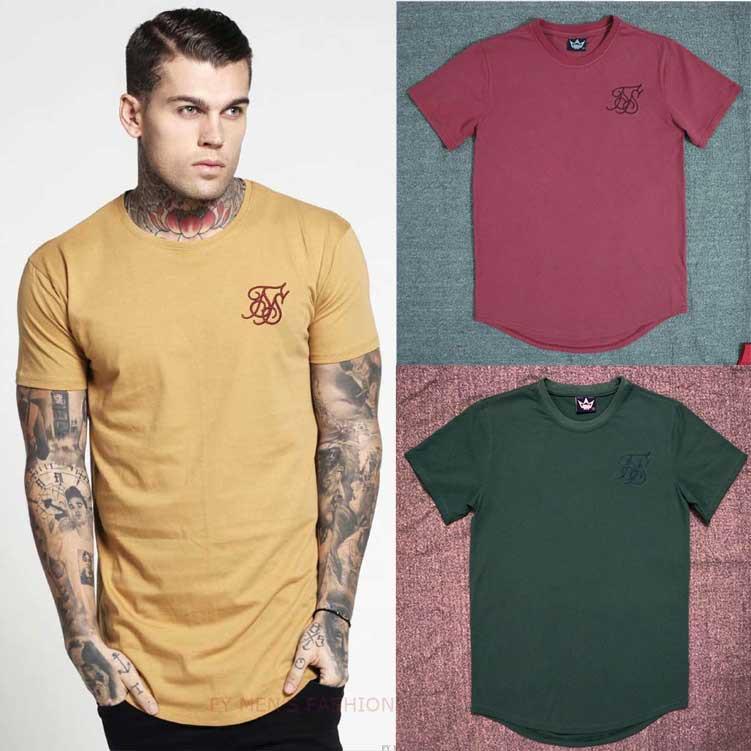 2018英伦风高品质简约纯色男装刺绣字母圆领短袖T恤MEN T SHIRT