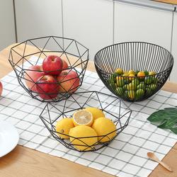 北欧风格水果盘创意客厅茶几家用个性网红ins现代零食果篮收纳筐