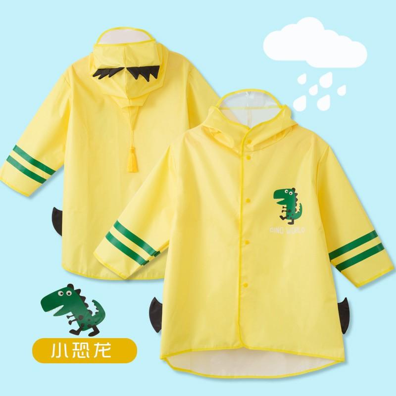 Duckling childrens raincoat Baby Kindergarten boys girls waterproof poncho cartoon one piece cute raincoat